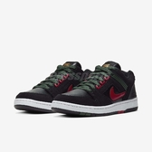 Nike 滑板鞋 SB Air Force II Low 黑 綠 男鞋 麂皮 舒適緩震鞋墊 運動鞋 【PUMP306】 AO0300-002