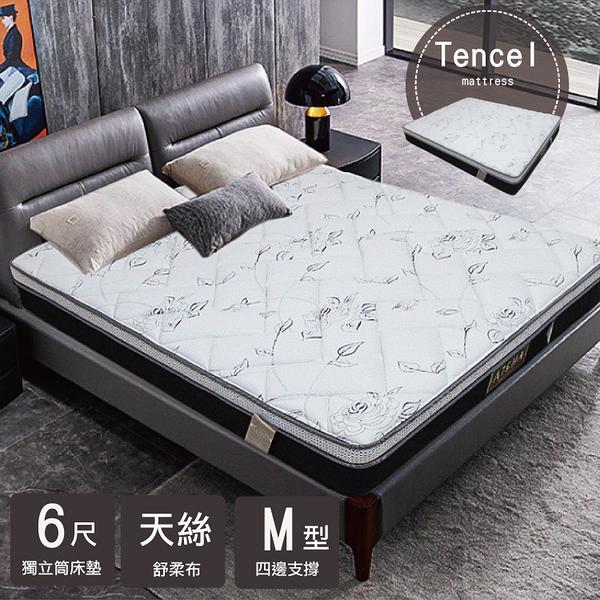 床墊 / 黑玫瑰Tencel天絲乳膠獨立筒床墊 加大雙人 6*6.2尺 G-16 愛莎家居