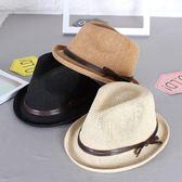 韓版兒童草帽寶寶帽子遮陽春夏防曬禮帽