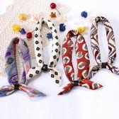 裝飾文藝韓版chic韓國小方巾絲巾夏季領帶女百搭圍巾脖子復古領巾