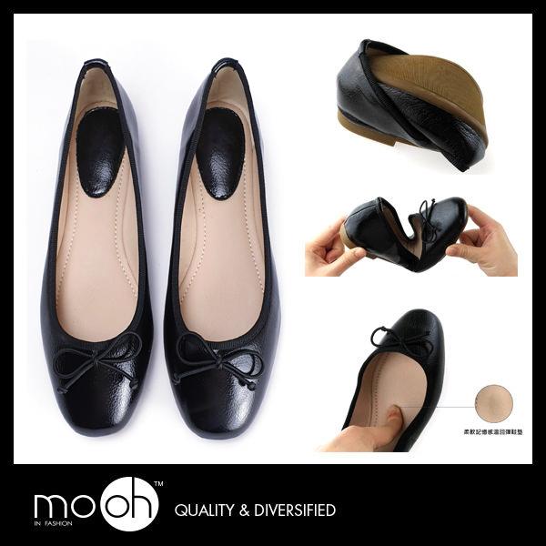 大尺碼娃娃鞋 舒適 歐美蝴蝶結甜美柔軟平底娃娃鞋 mo.oh (歐美鞋款)