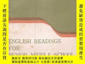二手書博民逛書店ENGLISH罕見READINGS FOR SENIOR MID