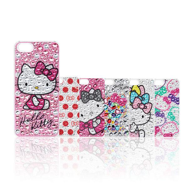 日本 Suncrest Hello Kitty iPhone SE/5S 閃亮水鑽保護殼