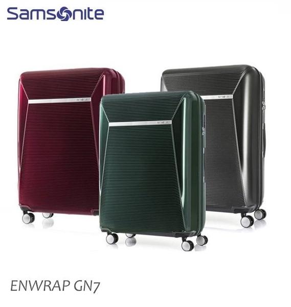 Samsonite新秀麗【ENWRAP GN7】25吋行李箱雙層防盜拉鍊可擴充加大PC輕量雙軌飛機輪