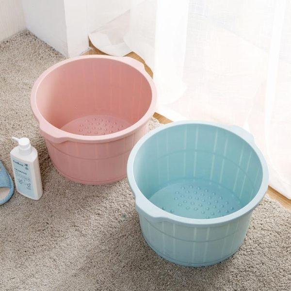 [超豐國際]帶按摩泡腳桶冬季加高洗腳盆 塑料加厚足浴盆足浴桶洗腳