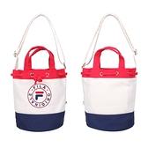FILA 水桶兩用側背包(帆布 手提包 斜背包 隨身包 肩背包≡體院≡ BMV-3003-WT