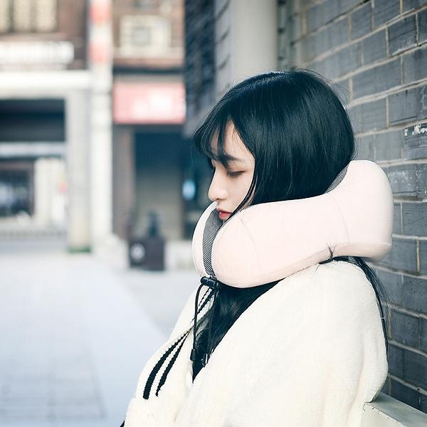 記憶棉u型枕頭在便攜旅行飛機u形脖子頸椎頸部靠枕可折疊男女護頸枕頭推薦