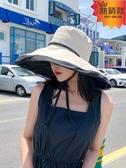 漁夫帽 日本UV防曬帽防紫外線遮陽漁夫帽女雙面可折疊夏季百搭出游太陽帽 『快速出貨』
