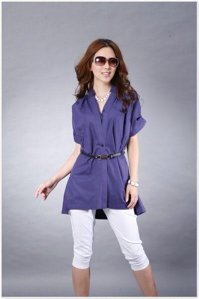 新款熱賣春夏 時尚休閑優雅氣質短袖襯衫