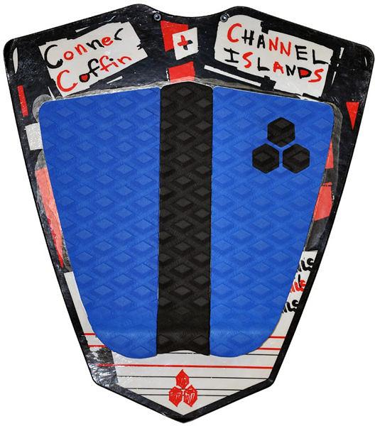 Channel Islands 專業衝浪配件:CONNER COFFIN FLAT PAD 三片式防滑墊 / 止滑墊 - (黑/藍)