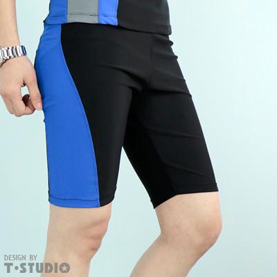 【T-STUDIO】束胸泳衣系列/中性撞色/拉繩泳褲(單件銷售)