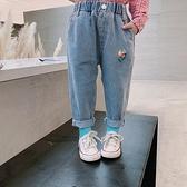 中小童寬鬆牛仔褲兒童韓版長褲女童洋氣褲子童裝卡通2020秋裝新款  【端午節特惠】