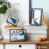 相框擺臺 創意立體照片掛墻現代簡約歐式10吋金屬畫框 BS20755『科炫3C』