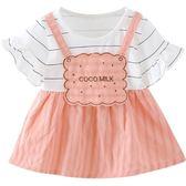 洋裝連身裙女寶寶公主裙新款夏裝0-1-2歲女童短袖連衣裙嬰兒衣服3-9個月三角衣櫥