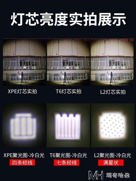 led強光手電筒可充電超亮遠射5000多功能便攜家用戶外    瑪奇哈朵