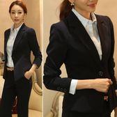 西裝外套女 黑色短款小西裝聳肩修身顯瘦女裝長袖職業小西服外套 愛麗絲精品