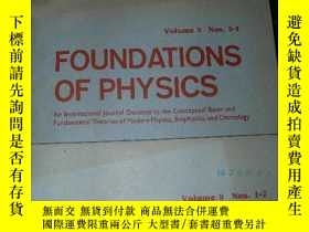 二手書博民逛書店FOUNDATIONS罕見OF PHYSICS 1979年 1.