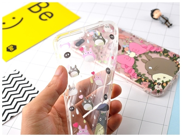 【SZ34】iphone 8 plus手機殼 宮崎駿龍貓防摔氣墊殼iphone XS max iphone 11promax xr 6s 7 xs手機殼