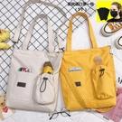 斜背包包包女2020韓版原宿風斜背帆布包女學生白搭大容量手提側背包 新品