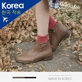 靴.細帶釦飾低跟短靴-FM時尚美鞋-韓國精選.Chilly