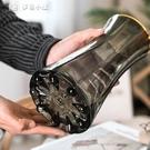 花瓶描金輕奢歐式網紅玻璃花瓶透明水養鮮花百合玫瑰客廳干花插花擺件YYS 快速出貨