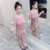 女童夏裝新款韓版童裝兒童洋氣裙子夏季女孩雪紡洋裝夏潮衣花間公主