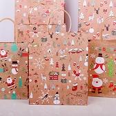 【BlueCat】聖誕卡通繪畫牛皮手提袋(42*32cm)