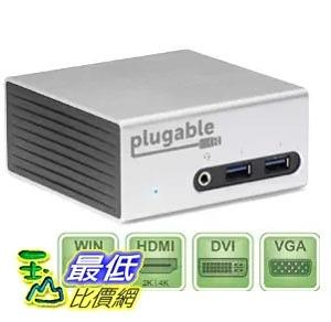 [美國直購] Plugable UD-5900 充電集線模組 USB 3.0 Aluminum Mini Universal (HDMI/DVI/VGA/Ethernet/Audio/USB/VESA)