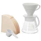 HARIO V60白色02濾杯咖啡壺組 ...