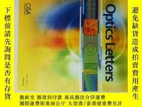二手書博民逛書店Optics罕見Letters 2014 08 16 光學光子學