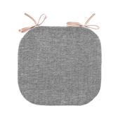 浮紋編織馬蹄餐椅墊38x41cm雙染灰