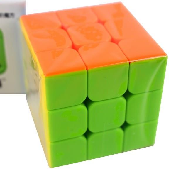 魔方格 勇士三階魔術方塊 169(螢光色5.7cm)/一個入(定100) 比賽專用 奇藝三階魔方 3x3x3-鑫-首CS84912