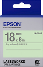 LK-5GAS EPSON 標籤帶 (綠底灰字/18mm) C53S655416