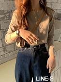 秋冬2020新款韓版針織衫圓領寬鬆長袖毛衣開衫女外搭上衣小外套潮