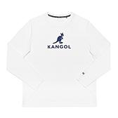KANGOL 中性款白色圓領長袖上衣-NO.6951100300