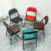 折疊椅子靠背家用凳子宿舍學生電腦靠椅現代簡約餐椅培訓椅會議椅igo『潮流世家』