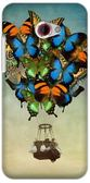 ✿ 3C膜露露 ✿ 【蝴蝶熱氣球*水晶硬殼】HTC Butterfly S 手機殼 手機套 保護套 保護殼