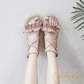 軟底舒適女涼鞋夏氣質平底學生羅馬鞋【繁星小鎮】