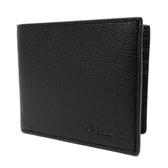 【COACH】壓印LOGO 6卡照片男款短夾(黑)