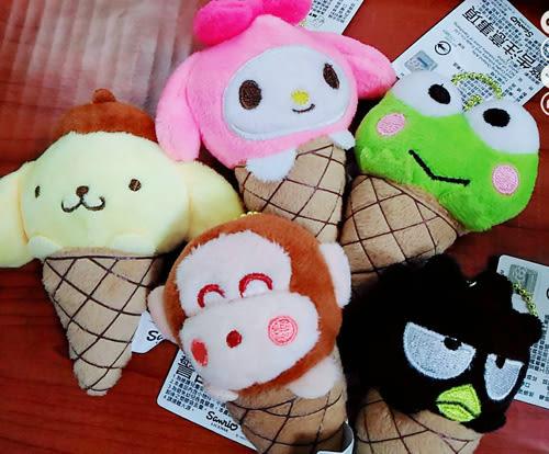 美樂蒂大眼蛙布丁狗酷企鵝淘氣猴吊飾娃娃玩偶冰淇淋081501通販屋
