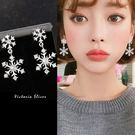 925純銀針  韓國優雅氣質  雪花 耳環-維多利亞181091