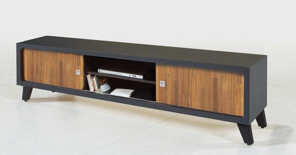 【森可家居】安琪拉6尺集層雙色推門長櫃 7JF221-2  電視櫃 木紋質感 工業風