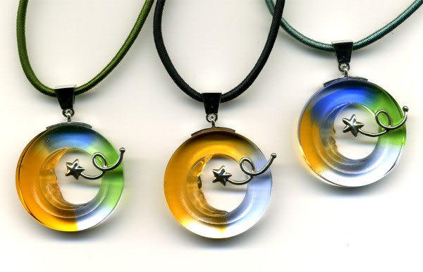 鹿港窯~開運古法水晶琉璃銀飾項鍊~星星太陽月亮◆附精美包裝◆免運費送到家