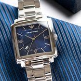 EMPORIO ARMANI 亞曼尼 AR11072 個性羅馬藍色陽光腕錶 熱賣中!