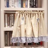 可愛時尚棉麻門簾E424 廚房半簾 咖啡簾 窗幔簾 穿杆簾 風水簾 (145寬*45cm高)