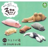 全套6款【日本正版】休眠動物園 P7 扭蛋 轉蛋 睡覺動物園 熊貓之穴 ZooZooZoo - 878244