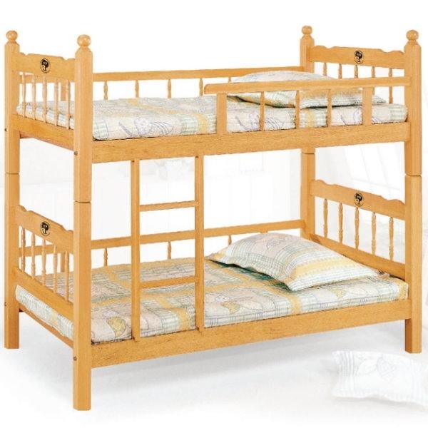 雙層床 AT-600-1 3尺白木方柱全欄雙層床 (不含床墊) 【大眾家居舘】