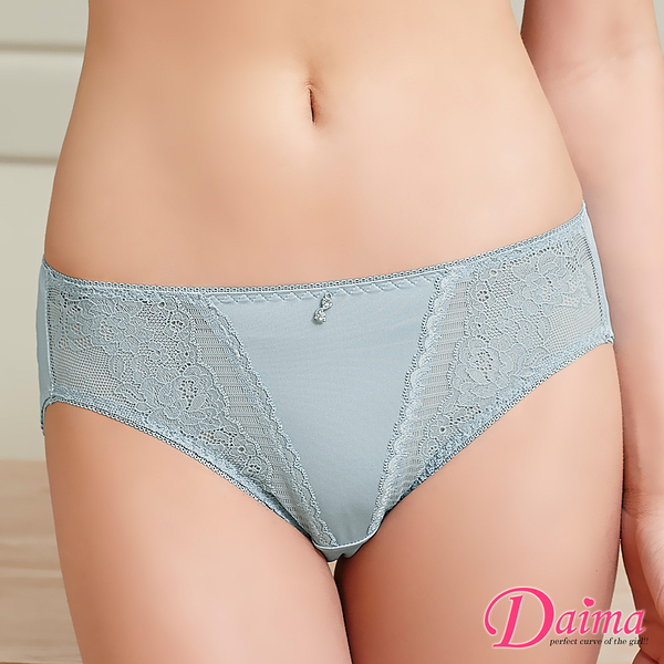 透氣親膚彈力蕾絲 內褲 (灰色)【Daima黛瑪】