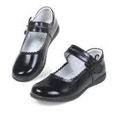 百姓館 女童黑色皮鞋真皮兒童表演出鞋學生單鞋禮儀花童校鞋牛皮軟底