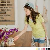 OrangeBear《AB3099》台灣製造.假兩件式層次V領單邊口袋竹節棉上衣.6色--適 XL~5L